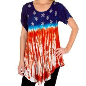 Greater Good Stars and Stripes Top Free Size Plus